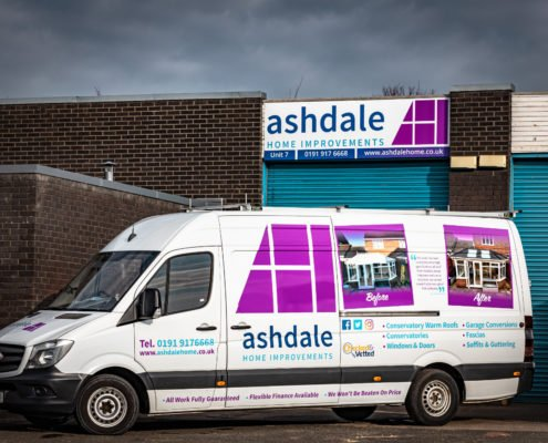 Ashdale Home Improvements office & vehicle