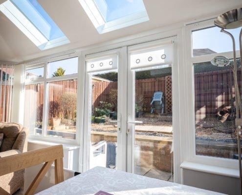 Interior of warm roof conservatory